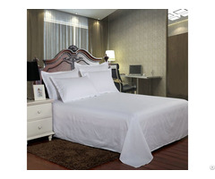 Hotel Bedding White Bed Sheet 100 Percent Cotton Solid Color Flat Sheets