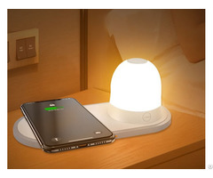 Qi Fast Wireless Charger Bedside Night Light Charging Lamp