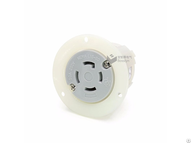 Nemal15 30 American Female Locking Flanged Outlet Power Receptacle 30a 250v Bl1530fo