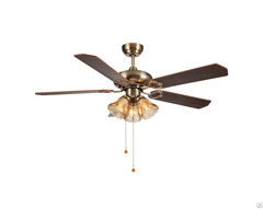 "42"" Bronze Finish Wooden Ceiling Fan Decorative"