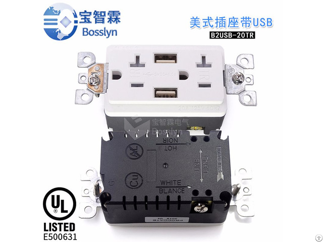 2usb 20a With Protecting American Sockets