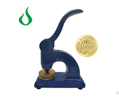 Company Big Size Logo Stamp Book Embosser Notary Seals Making