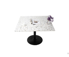 Hotel Restaurant Quality Square Terrazzo Stone Table