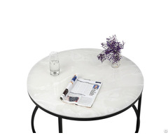 Round Coffee Tables Imperial Jade White Marble Table