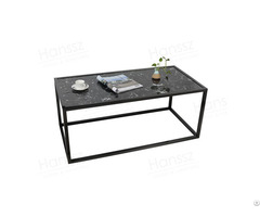 Rectangle Black Marble Table Top Coffee Tables