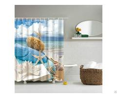 Beach Baker White Shower Curtain