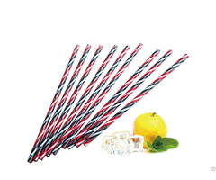 Reusable Plastic Candy Striped Straws