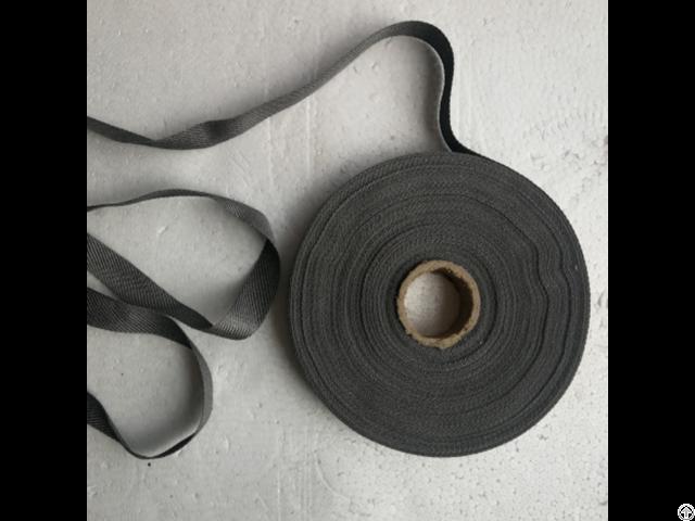 Stainless Steel Staple Fiber Spun Yarn Conductive Tape Ribbon 17mm Metal Xtaa08