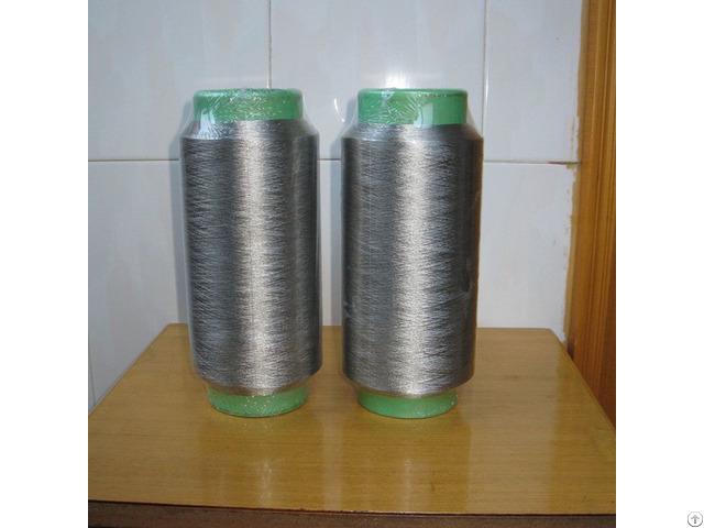 Pure Silver Plated Conductive Nylon Filaments 40d 12f Anti Bacteria Socks For Emr Fabrics Xtaa132