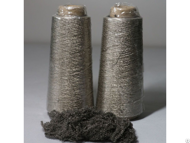 Silver Plated Conductive Nylon Fiber Blended With Cotton Anti Static Ring Spun Yarn Xt11855