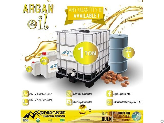 Deodorized Argan Oil Morocco