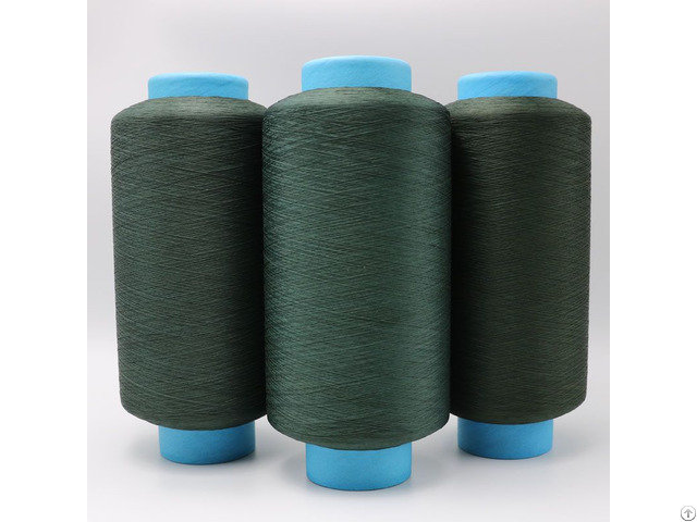 Copper Plated Cus Acrylic Conductive Filaments 75d 40f Dty Green Yarn For Anti Bacteria Xt11123