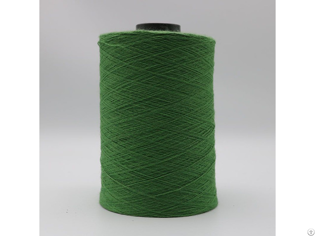Green Nm26 2plies 7% Stainless Steel Fiber Blended With 93% Solid Acrylic For Gloves Xt11024