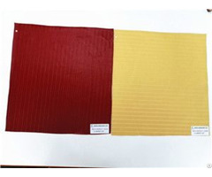 Bh190601 22 Red Yellow Striped Embossing Synthetic Leather 0 8mm 54 Inch