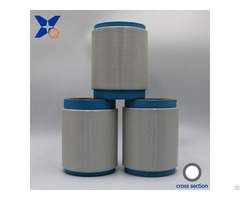 White Metal Oxide Conductive Polyester Fiber Filaments 20d 3f Inner Ring For Esd Xtaa255