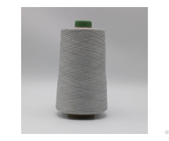 Natural Grey Yarn Ne21 1ply 20% Stainless Steel Fiber Blended With 80% Polyester Xtaa004