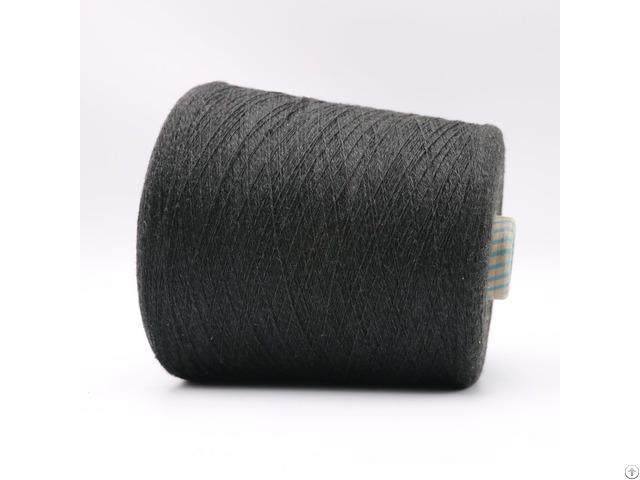 Ne16 2plies 10 Percent Stainless Steel Staple Fiber Blended With 90 Percent Polyester Xtaa114