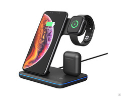 10w 15w Phone Charging Station Fast Qi Stand For Iphone Apple Watch And Airpods