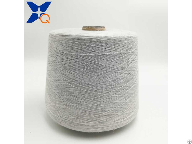 Nm26 2plies 15% Stainless Steel Staple Fiber Blended With 85% Bulky Acrylic Conductive Yarn Xt11297