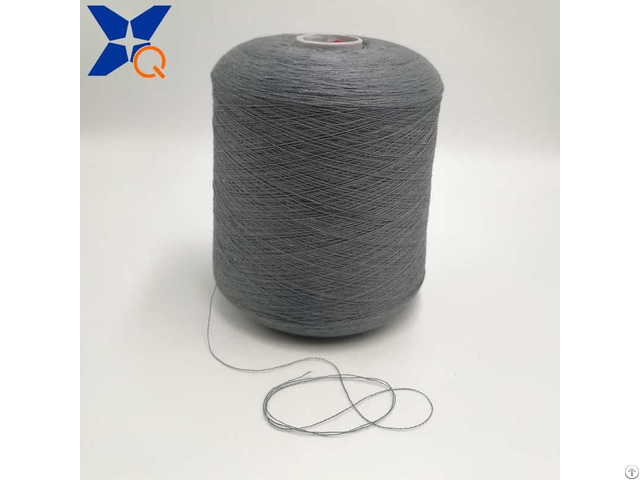 Ne21 2plies 10 Percent Stainless Steel Staple Fiber Blended With 90 Percent Polyester Conductive Y