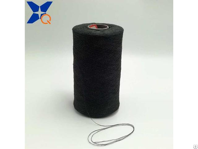 Black Ne21 2plies 10% Stainless Steel Blend 90% Polyester Fiber For Touch Screen Gloves Xt11323