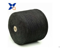 Nm13 1ply 30% Carbon Inside Fiber Blended 70% Black Bulky Acrylic Woolen Spinning Xtaa024