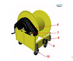 Hand Crank Pre Conditioned Air Pca Hose Reel With Cart