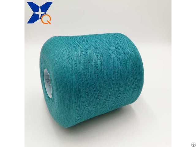 Blue Green Ne21 2plies 10% Stainless Steel Blended 90% Polyester For Touch Screen Gloves Xt11269