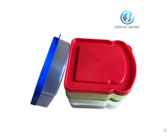 Plastic Sandwich Container With Colorful Lids