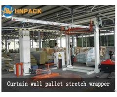 Hennopack Fully Auto Inline Pallet Top Foil Cover Machine