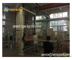 Inline Pallet Top Foil Cover Machine For Dust Protection And Water Proof