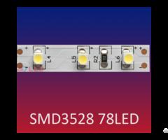 Smd3528 78led M High Lumen Flexible Led Strip Light