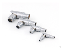 Different B Series Sizes Of Push Pull Self Latching Metal Elbow Plugs Connectors