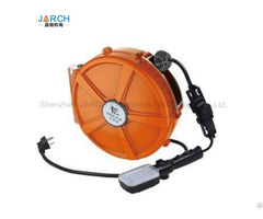 Constant Spring Return Retractable 1 12cores Signal Extension Cord Cable Reel Drum For Equipments