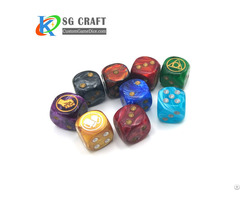 Custom Pattern Plastic Dice Set