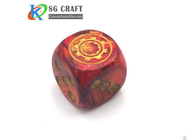 Custom Party Game Plastic Dice