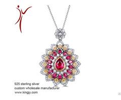 Sterling Silver Jewelry Necklaces Earring Bracelet Custom Wholesale