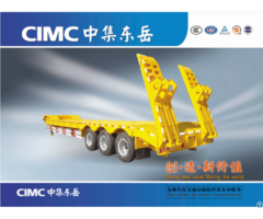 Cimc Cheap 3 Fuwa Axles China Made 13m Low Bed Truck Semi Trailer For Sale