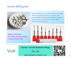 Milling Burs For Cadcam Machine Dental Lab Using