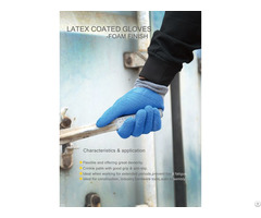 Latex Foaming Breathable Wear Dipping Wrinkle Industrial Protective Gloves