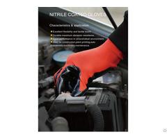 Velvet Nitrile Oil Proof Waterproof Construction Chemical Protective Gloves