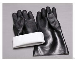 Factory Direct Black Pvc Screw Anti Freeze And Skid Industrial Labor Protection Gloves