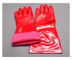 Pvc Terry Dip Thicken Work Gloves