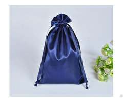 Navy Blue Satin Gift Bag