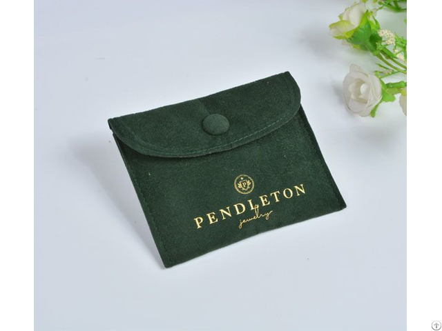 Dark Green Velvet Jewelry Pouch