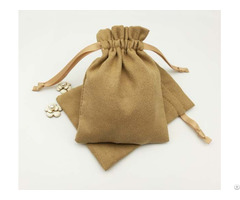 Suede Jewelry Drawstring Bag