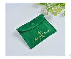Velvet Jewelry Bag With Snap Button