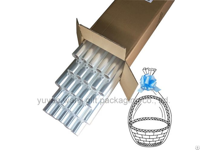 40in X 100ft Clear Cellophane Roll Transparent Opp Plastic Basket Gift Packing