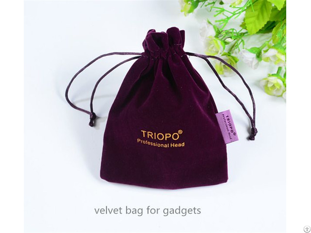 Purple Velvet Drawstring Jewelry Bag