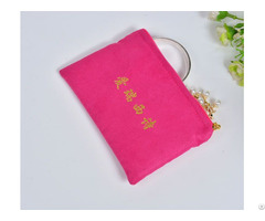 Suede Satin Zipper Pouch For Jewelry Cosmetics